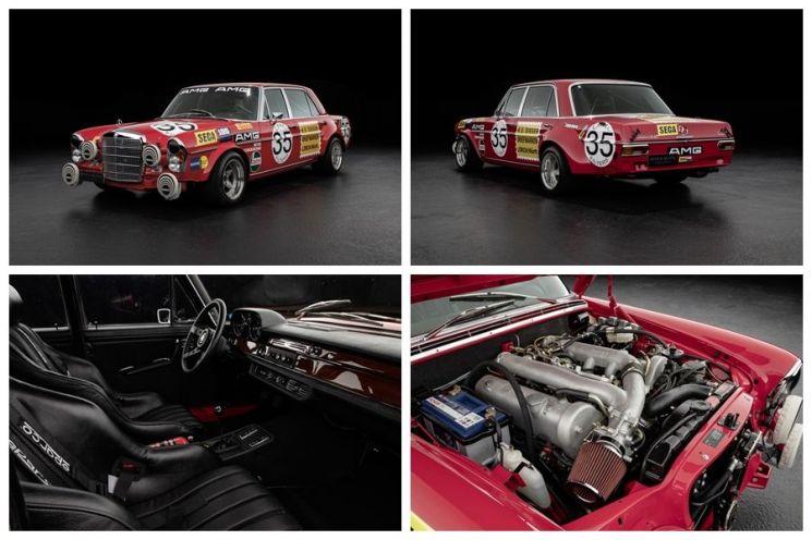 케이옥션 8월 프리미엄 온라인 경매에 '붉은 돼지(Red Pig)'라는 별명을 가진 클래식 자동차 메르세데스 벤츠 300SEL 6.3 AMG가 출품된다.  [사진= 케이옥션 제공]
