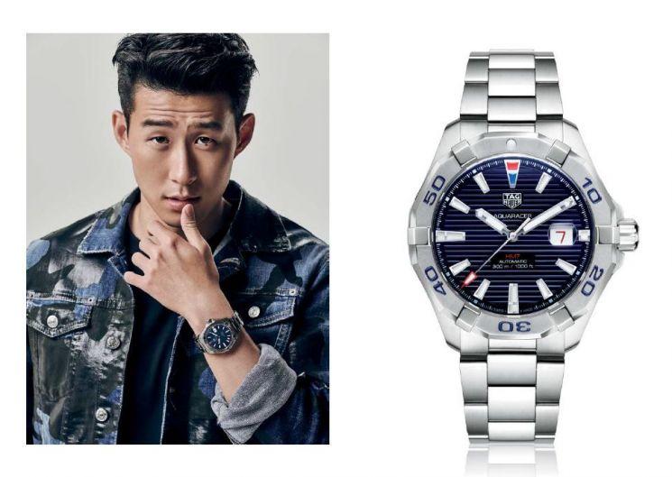 '태그호이어 손흥민 리미티드 에디션' 시계 두 점(77번, 777번)이 케이옥션 8월 자선경매에 출품된다.   [사진= 케이옥션 제공]