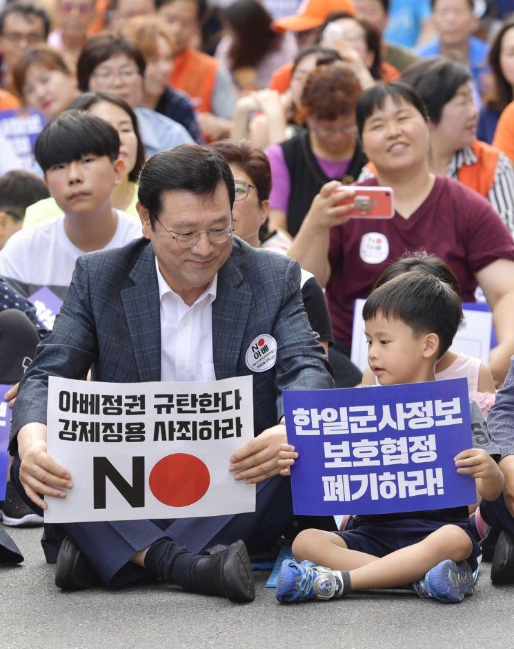 [포토] 한마음으로 외친 '경제침탈 아베규탄 광주시민대회'