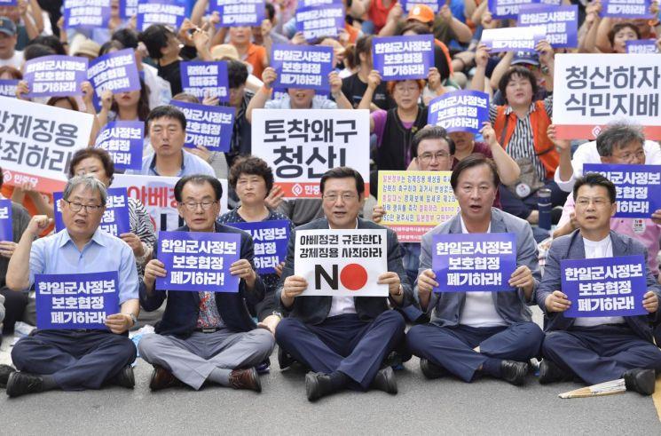 [포토] 이용섭 광주시장 '경제침탈 아베규탄 광주시민대회' 참석