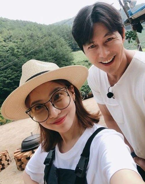 배우 윤세아와 정우성 / 사진=윤세아 인스타그램 캡처