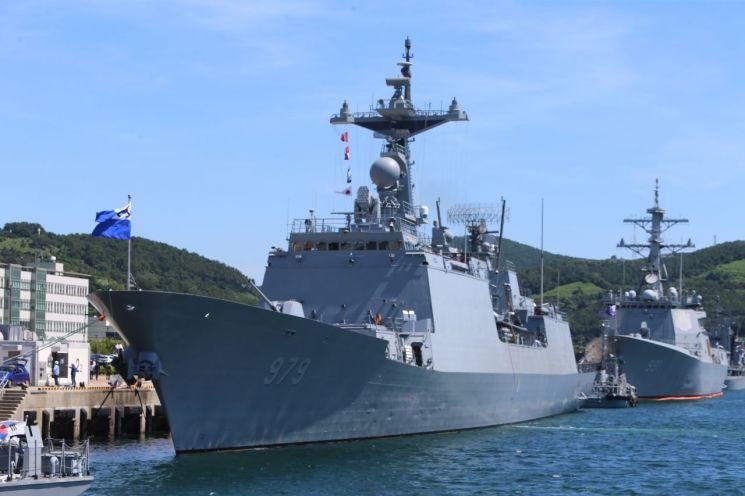 13일 오전 부산 남구 해군작전기지에서 출항을 앞둔 청해부대 30진 강감찬함이 정박해 있다. (사진=연합뉴스)