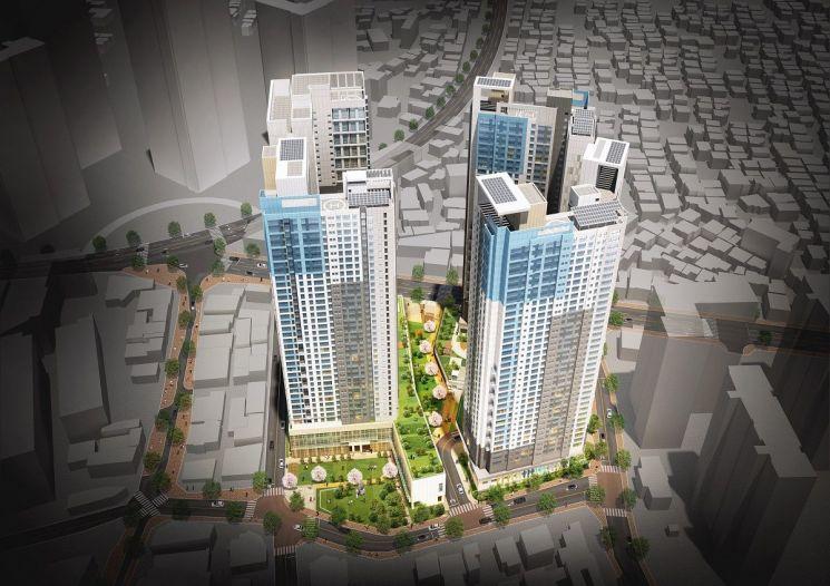 강동구 천호4구역, 최고 38층 4개동 670가구 주상복합 건립