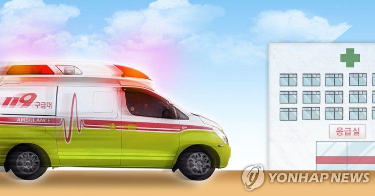 """[속보]속초 아파트 공사현장서 승강기 추락…""""3명 사망·2명 부상 추정"""""""