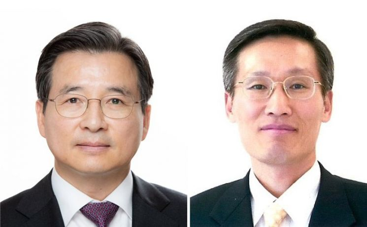 김용범 기획재정부 1차관(왼쪽)과 최용환 국가정보원 1차장.  사진=청와대
