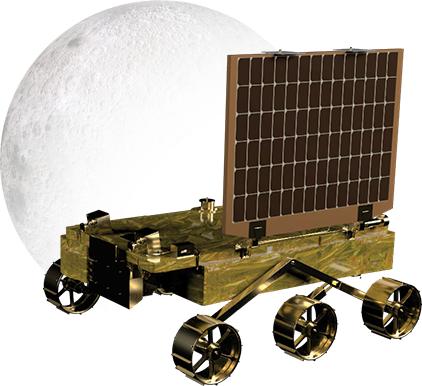 찬드라얀 2호에 탑재된 달 표면 착륙선 비크람(위쪽)과 탐사로봇인 프라그얀(아래쪽)의 모습(사진=인도우주연구기구(ISRO) 홈페이지/www.isro.gov.in)