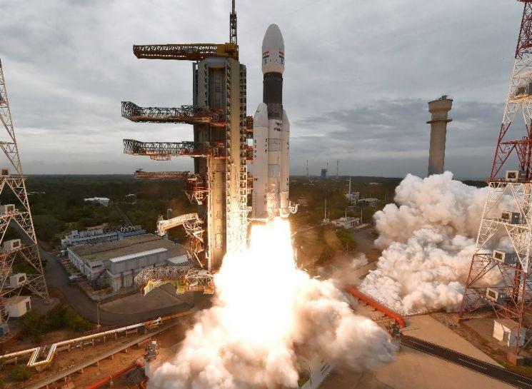 지난 7월22일 발사됐던 인도의 달 탐사선 찬드라얀 2호의 발사 모습(사진=인도우주연구기구(ISRO) 홈페이지/www.isro.gov.in)