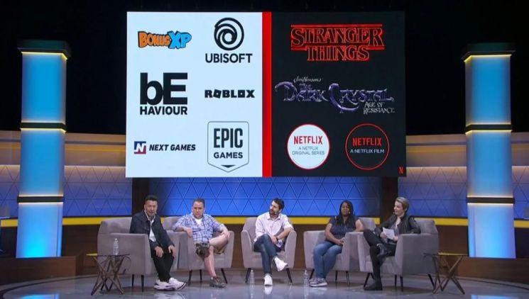 세계 최대 온라인동영상서비스(OTT) 업체 넷플릭스가 지난 6월 미국 로스앤젤레스 더노보 게임쇼 'E3 2019' 콜로세움에서 오리지널 드라마 시리즈를 바탕으로 한 게임을 잇달아 제작, 출시한다고 밝혔다. [이미지출처=연합뉴스]