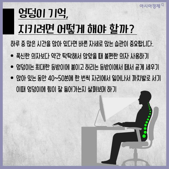 [카드뉴스]'엉덩이 기억상실증' 들어보셨나요?