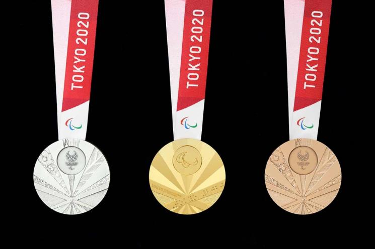 욱일기 문양을 연상케 한다는 논란이 불거진 2020 도쿄 패럴림픽 메달[사진=도쿄패럴림픽 조직위원회 홈페이지]