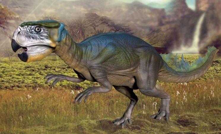 멸종하지 않았다면 애완공룡 1순위로 진화했을 것으로 손꼽히는 '프시타코사우르스' [사진=유튜브 화면캡처]