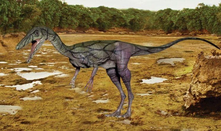 '콤프소그나투스' 성질은 사나워 보이지만 작고 가벼워서 인간이 길들여 반려공룡으로 삼을만 하다고 합니다. [사진=유튜브 화면캡처]