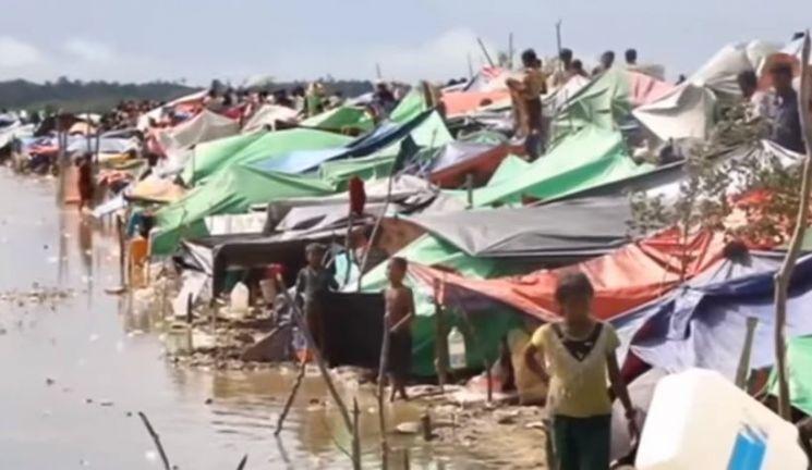 기아와 재난으로 고향을 떠난 난민들이 모여 구성된 난민촌의 모습. [사진=유튜브 화면캡처]