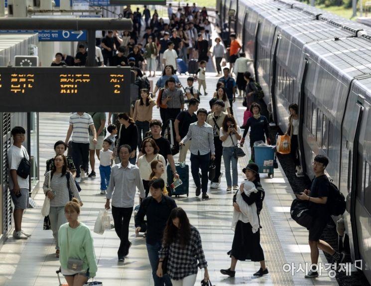 [포토] 서울역 도착한 귀경객들