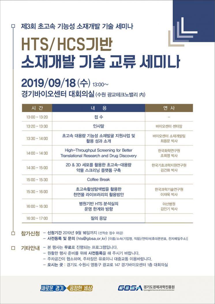 경기경제과학원 '초고속 기능성 소재개발 세미나' 개최