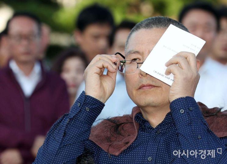 [포토]삭발한 황교안 자유한국당 대표