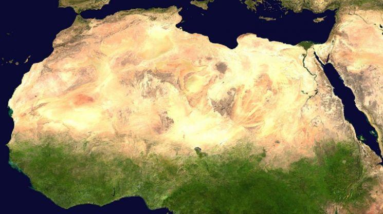 사하라사막은 점점 더 넓어지고 있습니다. 아프리카 대륙 면적의 4분의 1을 차지할 정도로 커졌습니다. [사진=NASA]