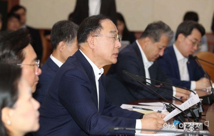 [포토]제207차 대외경제장관회의 주재하는 홍남기