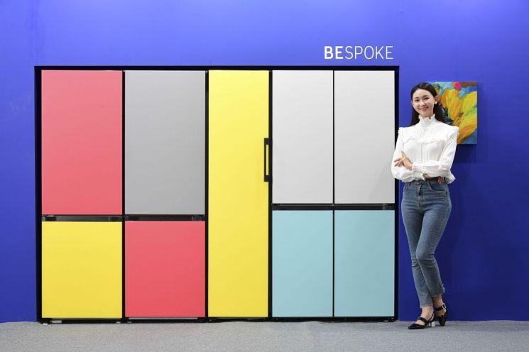 [포토] '그림같은' 삼성전자 비스포크 냉장고