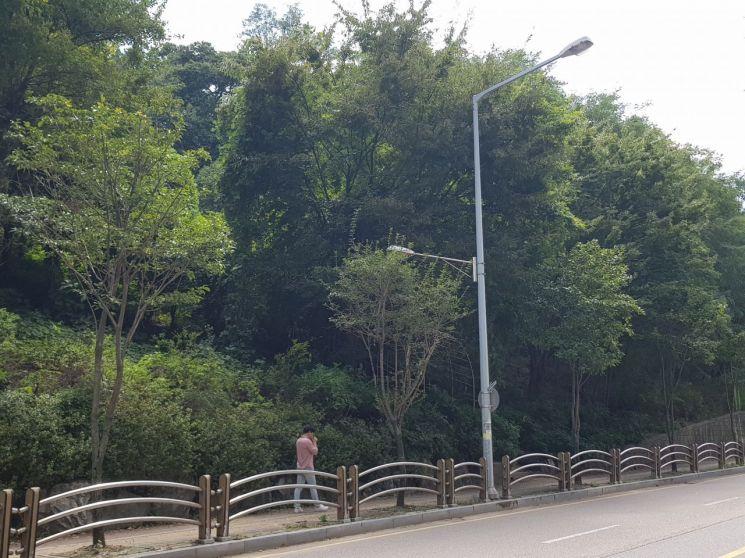 9차 사건이 발생했던 당시 병점리 야산. 아파트 숲에 둘러싸인 근린공원으로 바뀌어 있다.
