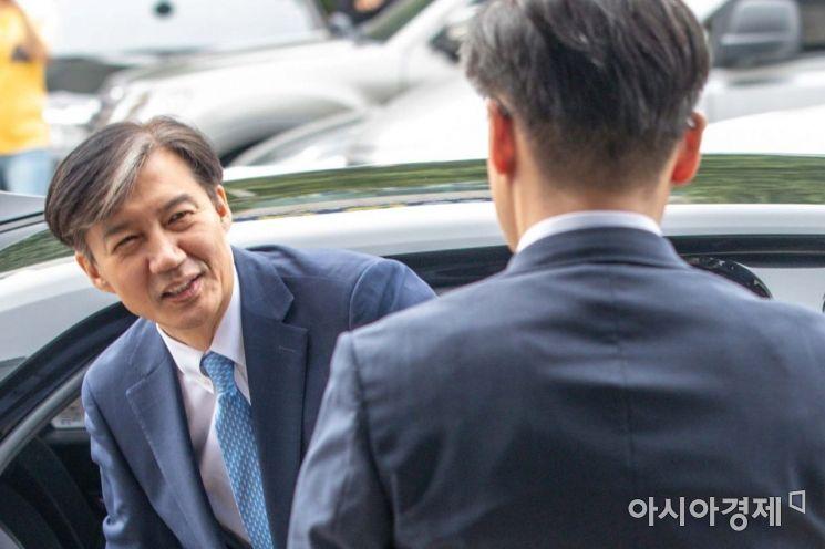 [포토]의정부지검 도착한 조국 법무부 장관