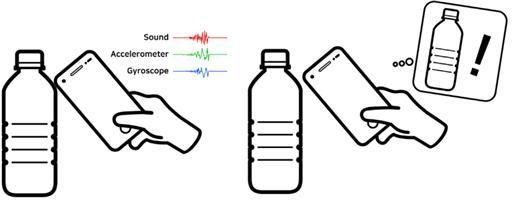 '노커'는 물병에서 생성된 고유 반응을 스마트폰을 통해 분석해 물병임을 알아내고, 그에 맞는 서비스를 실행 시킨다.