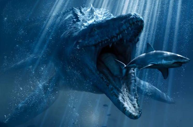 중생대 바다의 포식자로 군림했던 '모사사우루스' [사진=쥬라기 월드 폴른 킹덤 스크린샷]