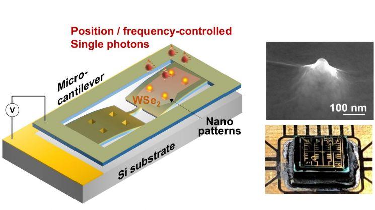 제어 가능한 반도체 양자 광소자 모식도