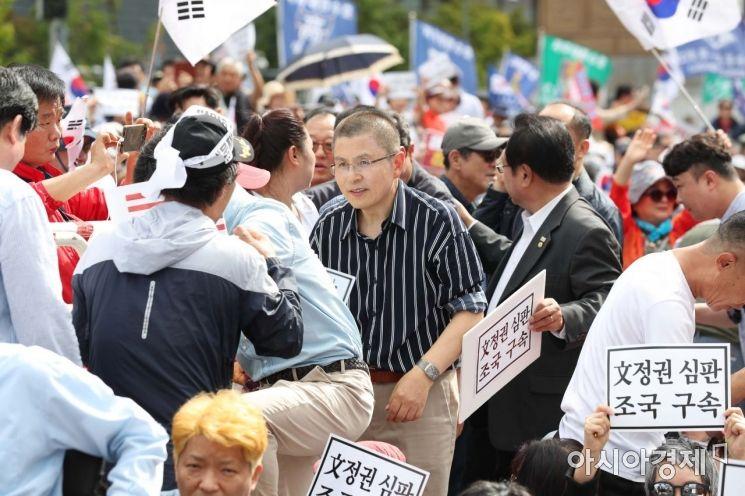 [포토]집회 참석하는 황교안