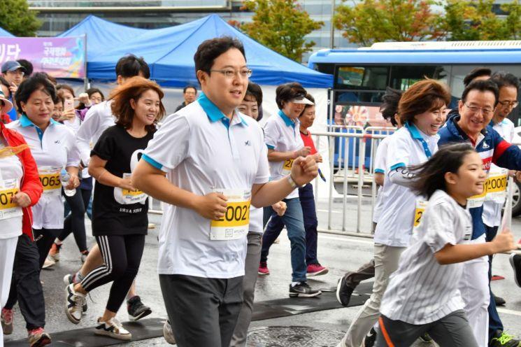 강남구의회 의원들 제17회 국제평화마라톤대회 참석