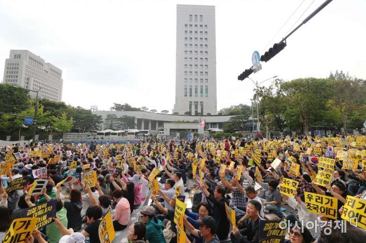 [포토]서초동 검찰개혁 촉구 목소리
