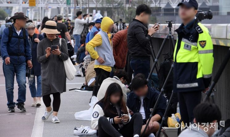 [포토] 불꽃축제 보기 위해 모인 시민들