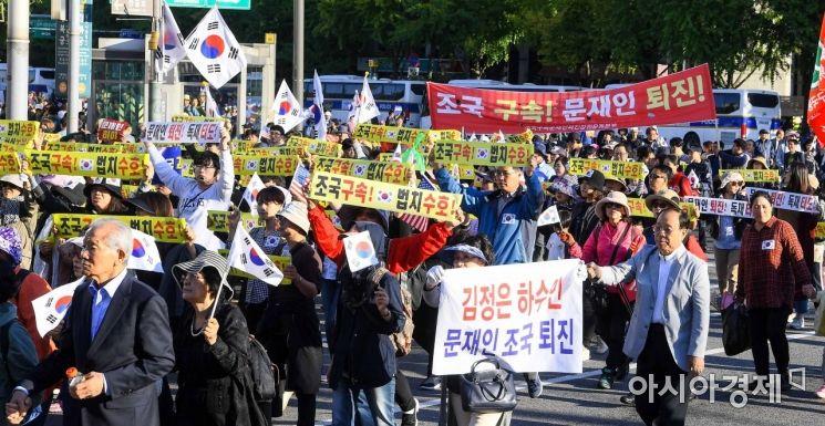 [포토]청와대로 행진하는 보수단체 관계자들