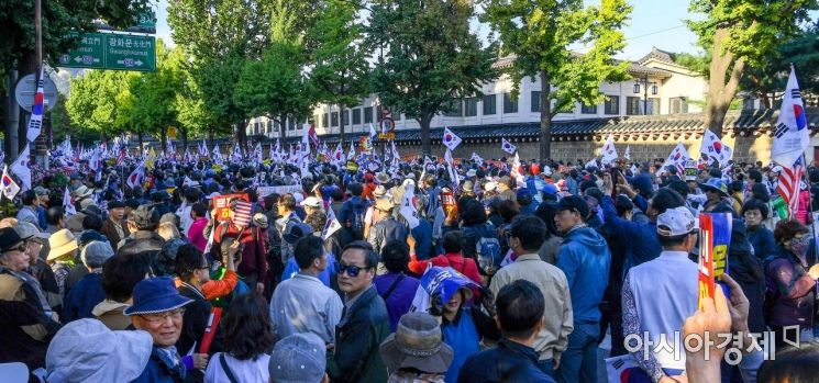 [포토]청와대로 행진하는 보수단체
