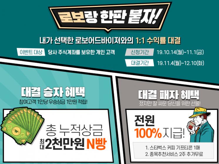 하이투자증권 '로보랑 한판붙자' 이벤트