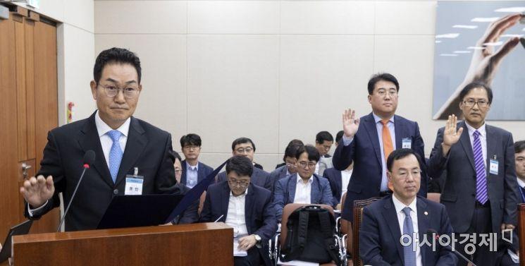 [포토] 국감 출석한 이희성 한국 레노바 사장
