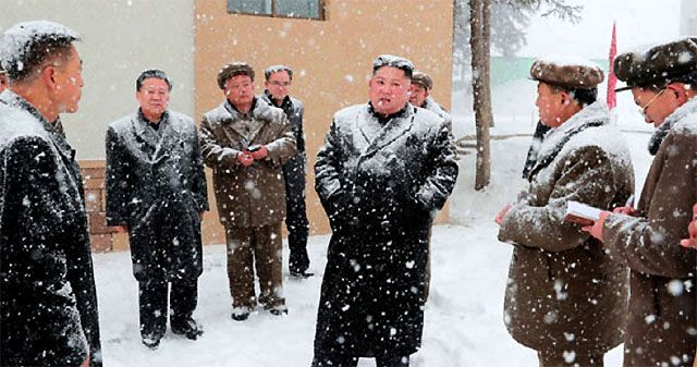 2018년 10월 삼지연군을 찾은 김정은 북한 국무위원장