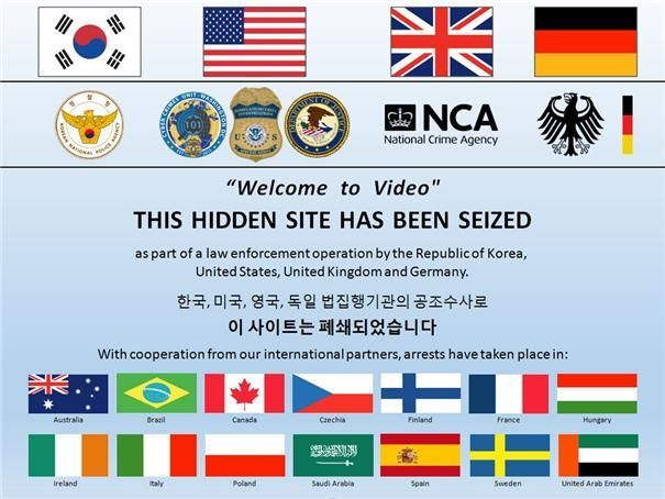 전 세계 32개국의 공조수사를 통해 폐쇄된 아동음란물 유포 '다크웹' 사이트./사진='다크웹' 사이트 화면 캡처