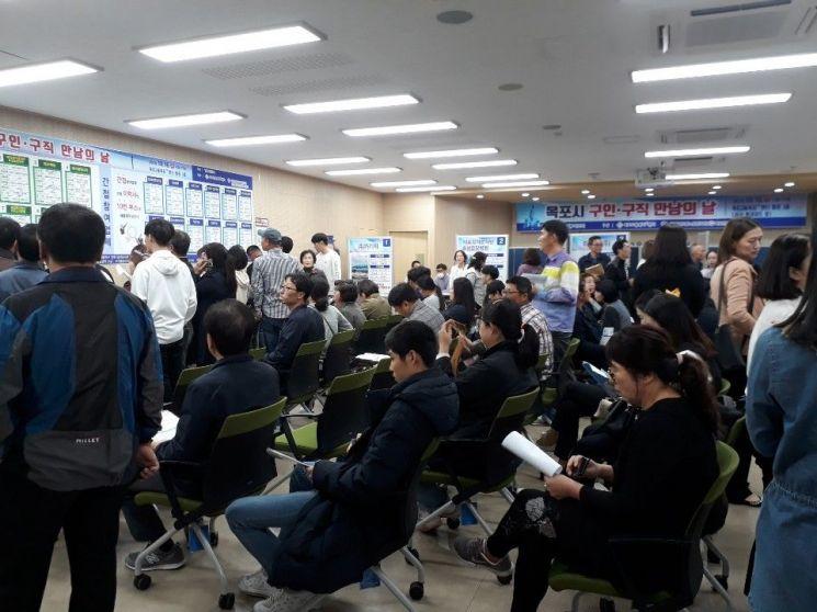 지난 16일 목포고용복지플러스센터에서 '구인·구직 만남의 날' 행사가 개최됐다. (사진제공=목포시)