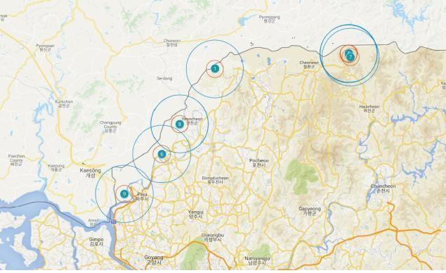 야생멧돼지 발생지역 지도(파주 9번)/제공=환경부