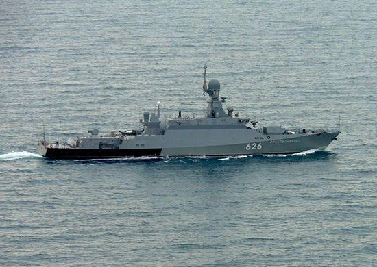 17일(현지시간) 흑해 일대에서 훈련 중인 러시아 해군소속 함정의 모습(사진=러시아 국방부/http://mil.ru)