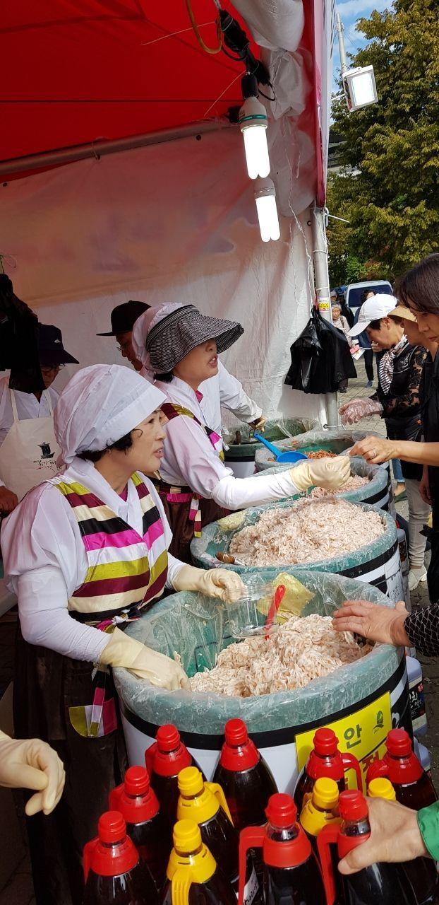 신안산 새우젓 판매장