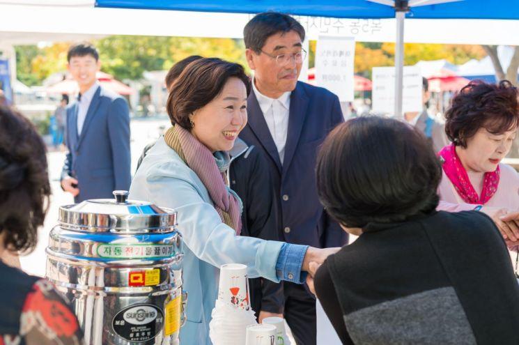 [포토]김수영 양천구청장, 제5회 파리공원 문화축제 참석