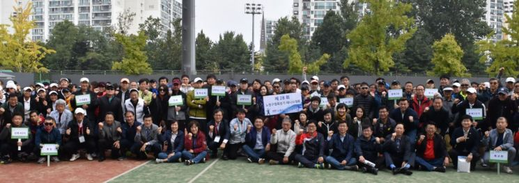 [포토]오승록 노원구청장, 제28회 노원구협회장기 테니스대회 격려