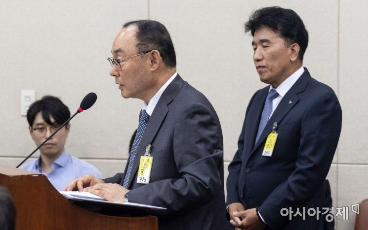 [포토] 눈 감은 함영주 하나금융그룹 부회장