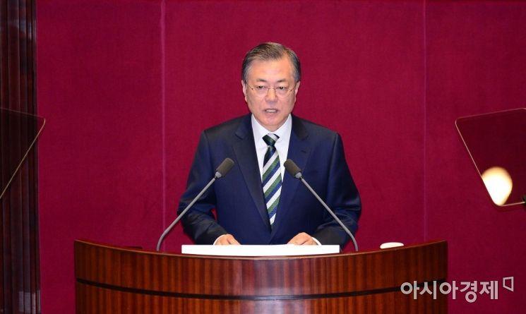 [포토] 시정연설하는 문재인 대통령