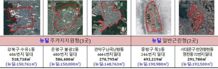 서울시, '도시재생 뉴딜' 저층주거지 5개소 사업 탄력 받는다