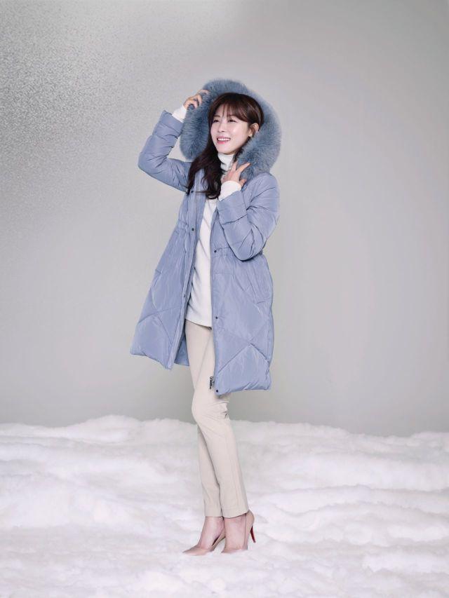 형지, '애착다운코트' 출시…화사한 컬러로 '드레스업 스타일' 연출