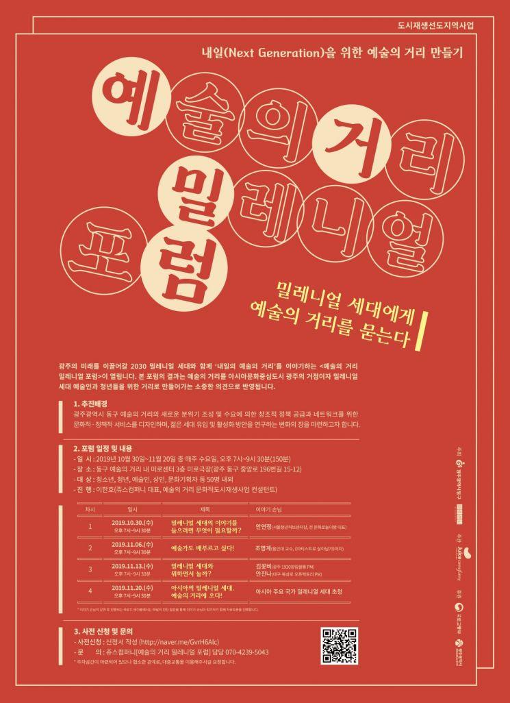 광주 동구, 미로센터서 '밀레니얼 포럼' 개최