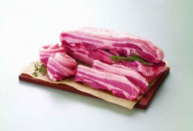 일반 돼지고기 삼겹살 사진.